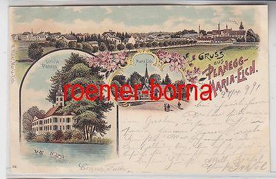 78985 Ak Lithographie Gruss aus Planegg-Maria-Eich 1899
