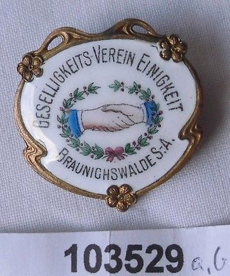 Rare Anstecknadel Braunichswalde S.-A. Geselligkeitsverein Einigkeit (103529)