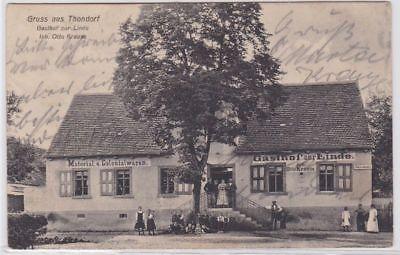 87700 Ak Gruß aus Thondorf Gasthof zur Linde 1912