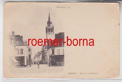 58015 Ak Hesdin Frankreich Rue de la Paroisse um 1900