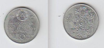 DDR Gedenk Münze 10 Mark 40.Jahrestag der DDR 1989 (105773)