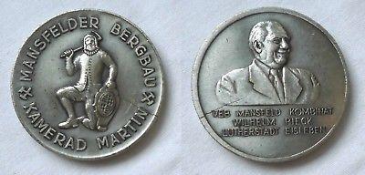 Medaille Mansfelder Bergbau Kamerad Martin VEB Kombinat Wilhelm Pieck (112598)
