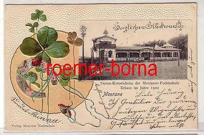 80531 Präge Ak Meerane Ferienkolonie der Fechtschule 1902