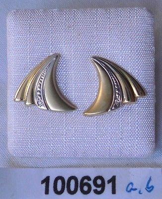 Dekorativer Ohrstecker 585er Gold mit Diamantsplitter (100691)