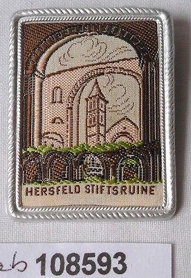Seltenes besticktes Blech Abzeichen Hersfeld Stiftsruine (108593)
