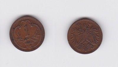 1 Heller Kupfer Münze Österreich 1895 (122939)