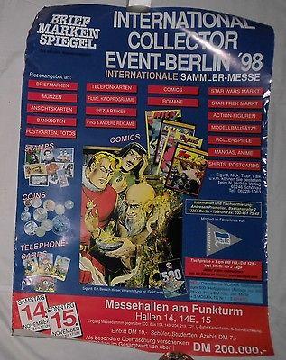 Seltenes Mosaik Plakat mit Reklame für Abrafax Telefonkarten 1998  (107070)