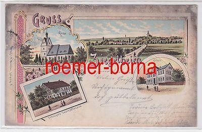 41771 Ak Lithografie Gruss aus Ziegelheim Schrevers Geschäftshaus usw. 1902