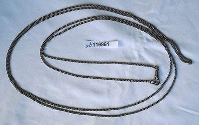 Lange silberfarbene Uhrkette für Damen Taschenuhr Länge 150 cm (116861)