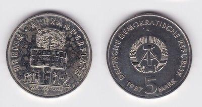 Ddr Gedenk Münze 5 Mark 750 Jahre Berlin Alexanderplatz 1987 123156