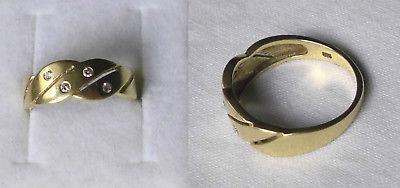 Eleganter Damenring 585er Gold mit 4 kleinen Diamanten (114900)