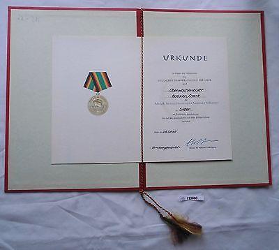 DDR Johann Gottfried Herder Medaille in Silber plus Urkunde (114040)