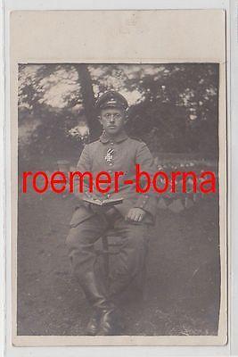 69645 Foto Ak Soldat mit Eisernem Kreuz 2.Klasse 1.Weltkrieg