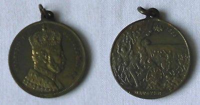 Bronze Medaille Wilhelm I deutscher Kaiser Manöver Kaisermanöver 1886 (117453)