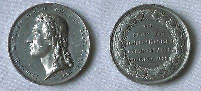 Zinn Medaille Friedrich Schiller Zur Feier Des 100 Geburtstages