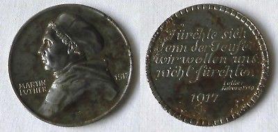 Eisen Medaille Martin Luther - 400 Jahrfeier Reformation 1917 (117457)