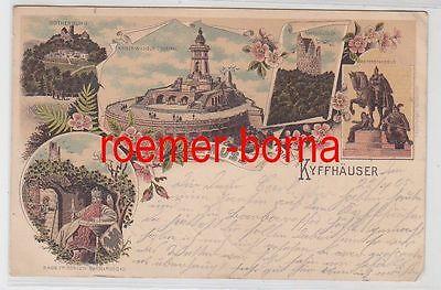 77571 Ak Lithografie Gruss vom Kyffhäuser 1905