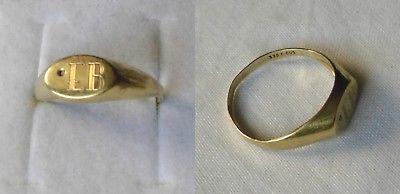 Eleganter hübscher Damenring Ring 333er Gold Siegelring Initialen EB (107510)