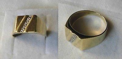 Eleganter hübscher Damenring Ring 333er Gold mit kleinen Diamanten (105270)