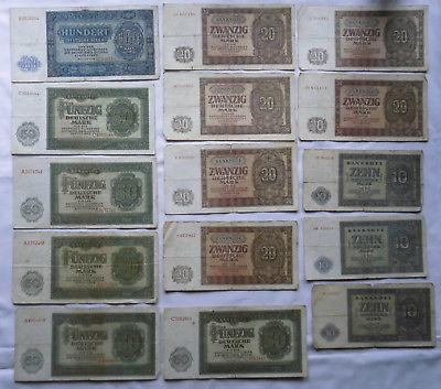 15 Banknoten Deutsche Notenbank DDR 1948 (112661)