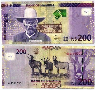 200 Dollar Banknote Bank of Namibia 2015 (102527)