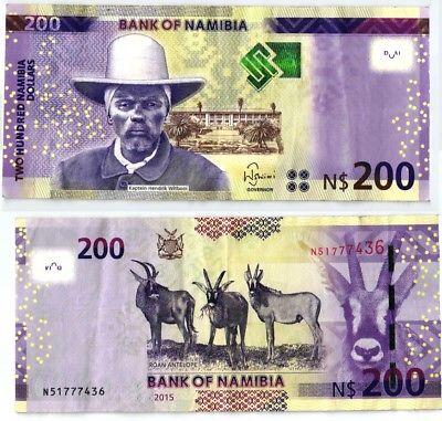 200 Dollar Banknote Bank of Namibia 2015 (104081)