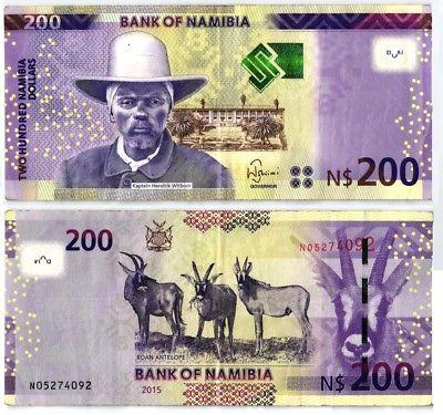 200 Dollar Banknote Bank of Namibia 2015 (107452)
