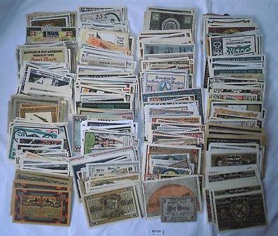 Sammlung mit 900 Banknoten Notgeld Deutschland um 1921 (101181)