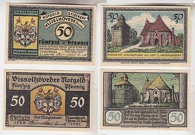 2 Banknoten Notgeld Flecken Visselhövede 1921 (113544)