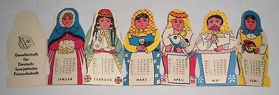 DDR Kalender 1987 Matroschka Leporello Deutsch-Sowjetische Freundschaft DSF