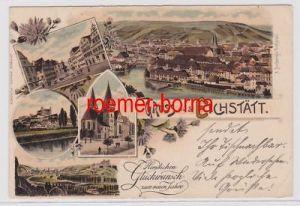 84235 Ak Lithographie Gruss aus Eichstätt 1907