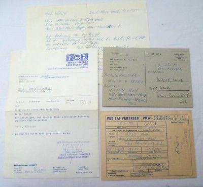 DDR Unterlagen PKW Bestellung IFA Vertrieb Karl-Marx-Stadt (100647)
