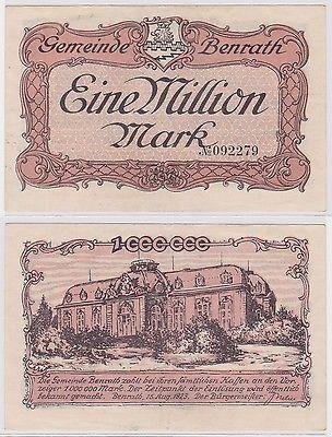 1 Million Mark Banknote Gemeinde Benrath 15.8.1923 (122109)