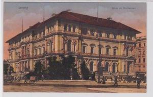 88077 AK Leipzig - Börse am Blücherplatz davor Kutschen und Fuhrwerke um 1910