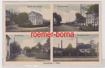 74467 Mehrbild Ak Fraureuth i.Thür. Porzellanfabrik usw. 1934