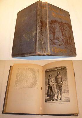 Durch die Kalahari-Wüste - Ngami-See in Südafrika, Brockhaus 1886 (Nr.3709)