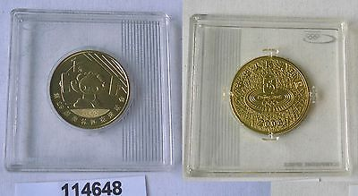 1 Yuan Messing Münze China Olympische Spiele 2008 Peking