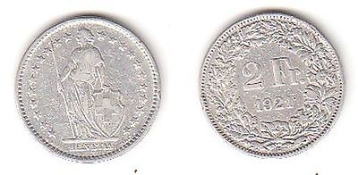2 Franken Silber Münze Schweiz 1921 B 114221 Nr 332477634910