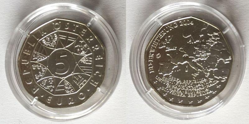 5 Euro Silber Münze österreich 2004 Eu Erweiterung 121264 Nr