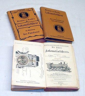 Die Schule des Lokomotivführers, 3 Bände 1902-1905 (Nr.20628)