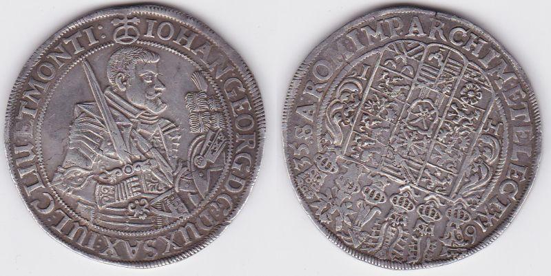 1 Taler Silber Muenze Sachsen Johann Georg I. 1635 HI (123074)