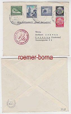 79623 Zeppelin Brief Fahrt übers befreite Sudetenland 01.12.1938