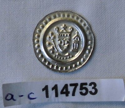 Brakteat Silber Münze Mittelalter Ulm Friedrich II 1212-1250 (114753)
