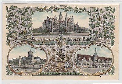 70160 Ak Leipzig zur Einweihung des neuen Rathauses 1905