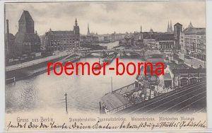 80585 Ak Gruss aus Berlin Dampferstation Jannowitzbrücke 1905