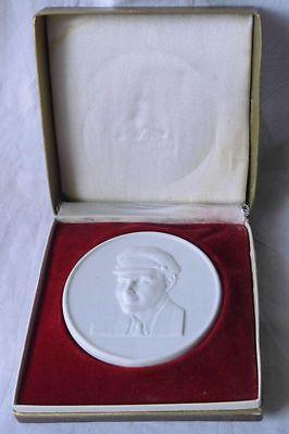DDR Porzellan Medaille 30 Jahre Freie Deutsche Jugend FDJ Thälmann (110649)