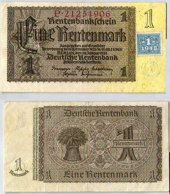 1 Mark Banknote DDR Deutsche Notenbank 1948 Kuponausgabe (123987)
