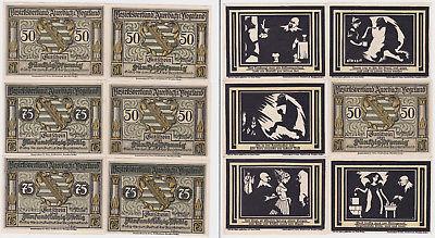 6 Banknoten Notgeld Bezirksverband Auerbach i.Vogtland 1921 (123602)
