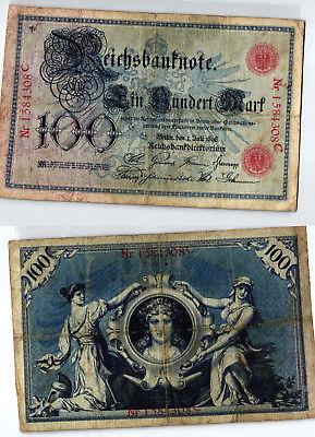 100 Mark Banknote Kaiserreich Deutsches Reich 01.07.1898 (124038)