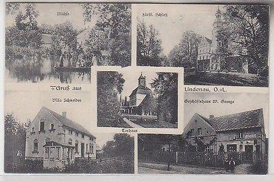 69980 Mehrbild Ak Gruß aus Lindenau O.-L. Mühle, Geschäftshaus usw. 1919
